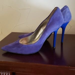Guess Carrie Blue Suede shoes